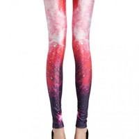 Red Galaxy Leggings$39