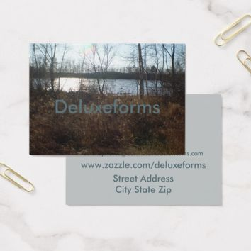 Cloudy Sunset Business Card