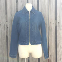 Deadstock - Vintage Ladies Jean Jacket - 1990s - Friends Style - Fits up to Med