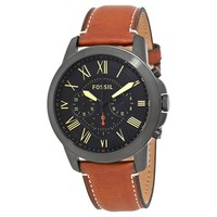 Fossil Grant Black Dial Mens Chronograph Watch FS5241