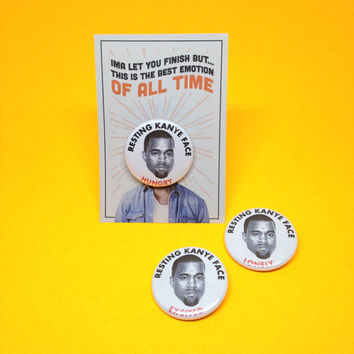 Resting Kanye Face Button