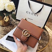 GUCCI GG Leather Chain Mini Shoulder bag