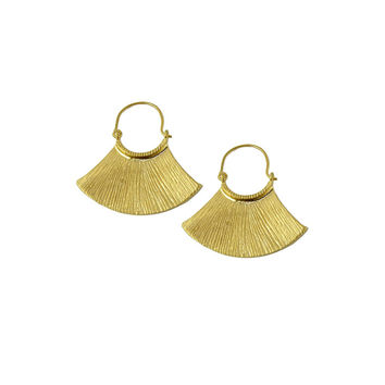 Mayan Gold Dangle Earrings