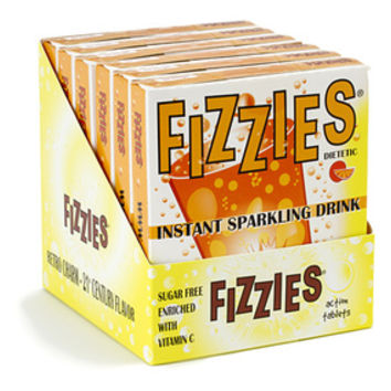 Fizzies Candy Drink Tablets Packs - Orange: 6-Piece Box