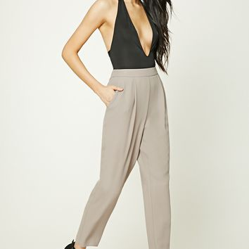 Pleated High-Waisted Pants