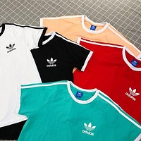Adidas Originals Classic Three Stripe Boyfriend Short Sleeve T-Shirt Top I