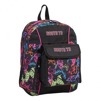 Roots 73 3-Piece Backpack Set [Rainbow Butterflies]