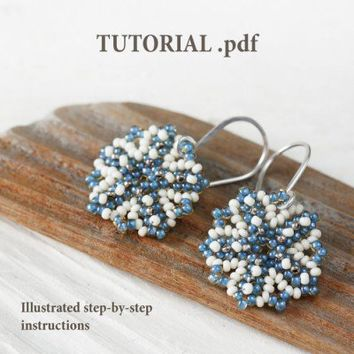 Beaded snowflake pattern, step by step photo tutorial