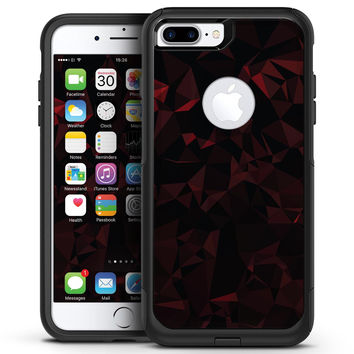 Dark Red Geometric V2 - iPhone 7 or 7 Plus Commuter Case Skin Kit