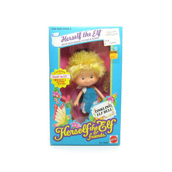 Herself the Elf Doll MIB Factory Sealed NRFB Toy with Charm Bracelet, Comb, Wand, Dress, Shoes