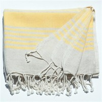Linen Turkish bath towel, pestemal, towel wrap Luxurious Linen Striped - For the Home - Ella Lou
