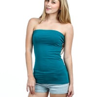 Teal Strapless Tube Top