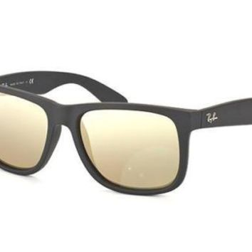 NEW Genuine Ray Ban RB4165 6225A Black Rubber Mens Womens Sunglasses Glasses