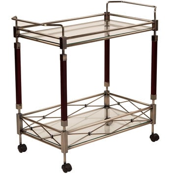 Office Star Melrose Serving Cart with Antique Brass Metal Finish [MLR37-ABR]