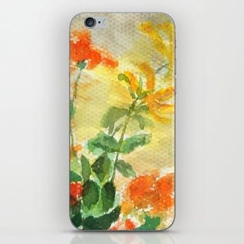 orange and yellow flowers  iPhone & iPod Skin by Color And Color