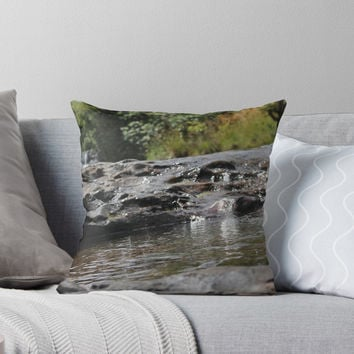 'Waterfall Photographic Print' Throw Pillow by PaulahChaves