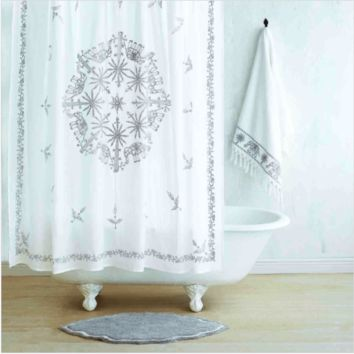 Yaji Gray Shower Curtain by John Robshaw