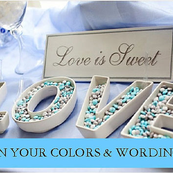 Wedding Sign LOVE IS SWEET Dessert Bar Sign Wedding Photo Prop