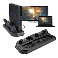 New Design Mutilfunction Cooling Fan Cooler Vertical Stand for PS4 /PlayStation 4 Console Cooler with Charging Station