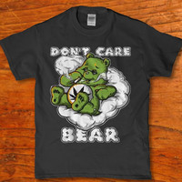 Don't care party bear pot weed smoking funny adult 420 Men's t-shirt