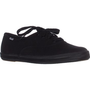 Keds Champion Oxford Lace-Up Sneakers, Black, 5.5 US / 35.5 EU