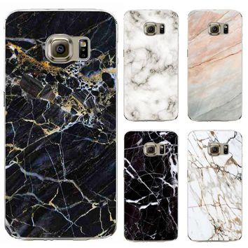 TPU Cases Cover For Samsung Galaxy S6 S6Edge Plus Silicon Phone Case Soft Marble Stone Image Painted Cover Mobile Phone Shell