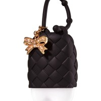 PocketBac Holder Black Quilted with Bow