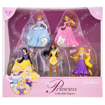 disney parks princesses aurora rapunzel figure cake topper playset new with box