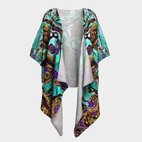 Pattern LXXVIII - Draped Kimono - Chiffon & Silky Knit Fabric -  Luxury Design