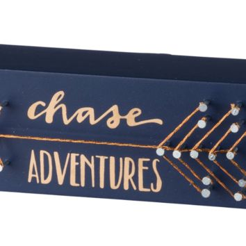 Chase Adventures String Art in Navy Blue and Metallic Gold