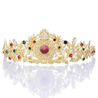 Remedios Retro Baroque Gold Wedding Tiara Headband Bridal Tiara Crown Headpieces