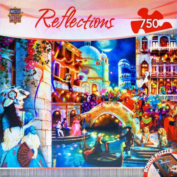Reflections - Masquerade Ball - 750 Piece Jigsaw Puzzle