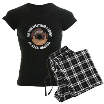 Time Spent With A Donut Women's Dark Pajamas