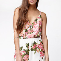 Reverse Tank Floral Romper at PacSun.com