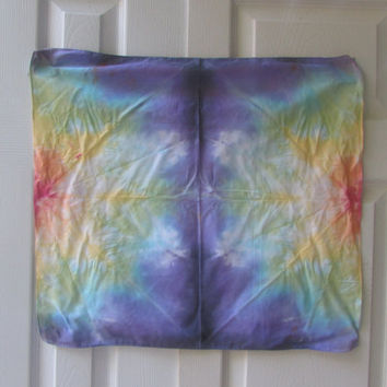 Bright Rainbow Symmetical Tie Dyed Bandana