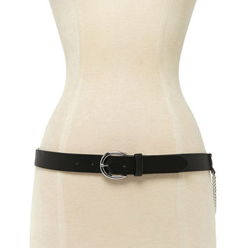 Faux Leather O-Ring Belt