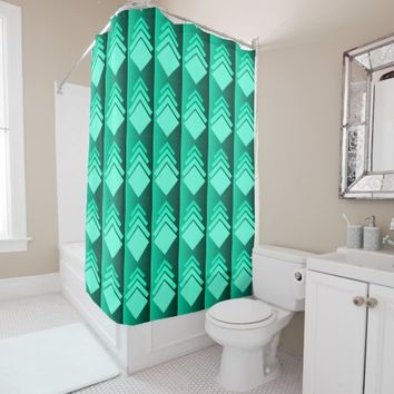 mint green shower curtain