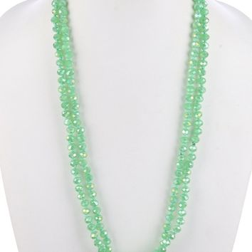 Emerald Extra Long Bead Necklace