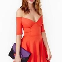 Hot Ticket Skater Dress - Poppy