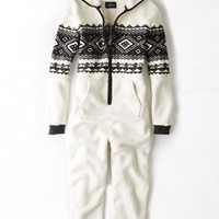 AEO 's Polar Bear Fair Isle Onesuit (Cream)