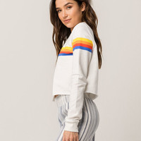 FULL TILT Vertical Stripe Womens Sweatshirt