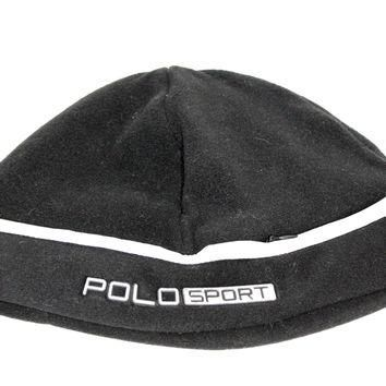 Polo Sport Adult's Black Fleece Skullie Beanie Hat OS