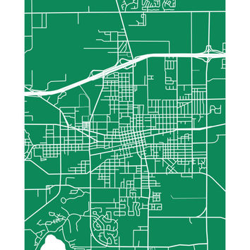 Plant City Map Print - Florida Poster