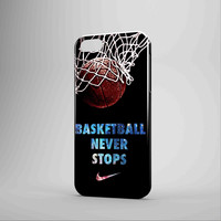 Nike Basketball Never Stop iPhone Case Samsung Galaxy Case NDR 3D