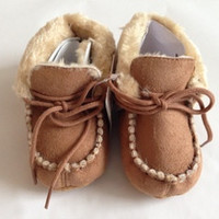 Soft Brown First Walker Shoes - Size 2