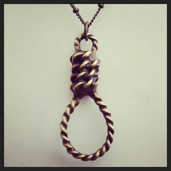 Hangman's Noose Horror Charm Necklace, Walk From The Gallows