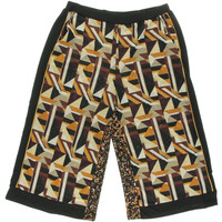 NY Collection Womens Matte Jersey Printed Wide Leg Pants