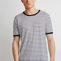 Striped Linen Ringer Tee