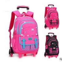 kids Rolling Backpack for School Kids Trolley School Bag for Girl Trolley Wheeled Backpack Travel trolley luggage bags On wheels