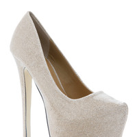Bumper Florescent Almond Toe Point Pumps
